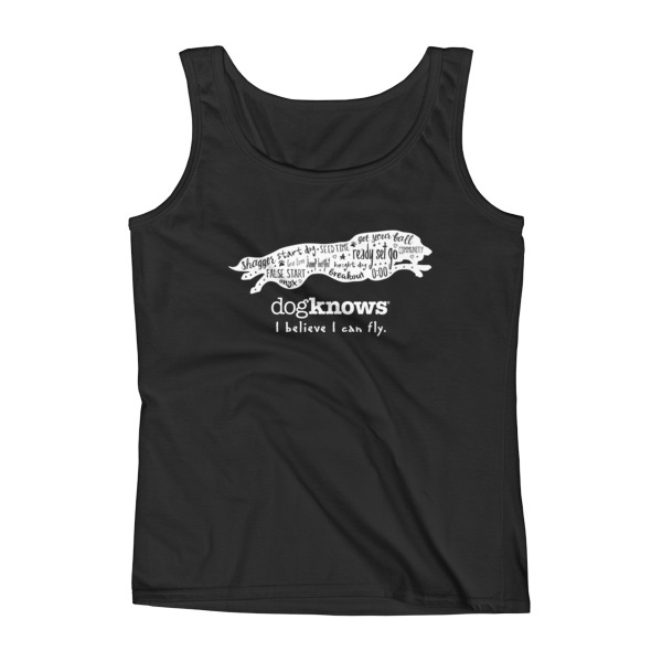 Border Collie Flyball Womens Tank