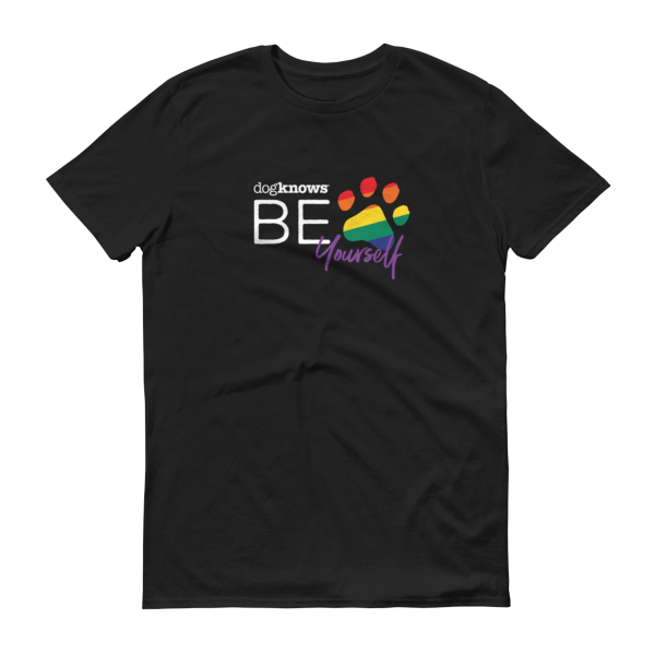 Be yourself paw print t-shirt mens/unisex