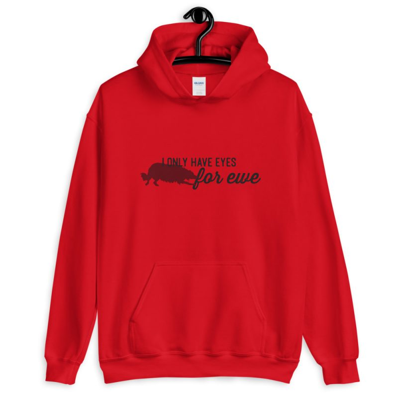 I only have eyes for ewe unisex hoodie (border collie)